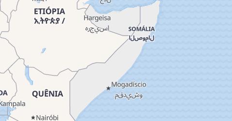 Mapa de Somália