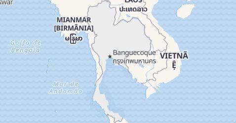 Mapa de Tailândia