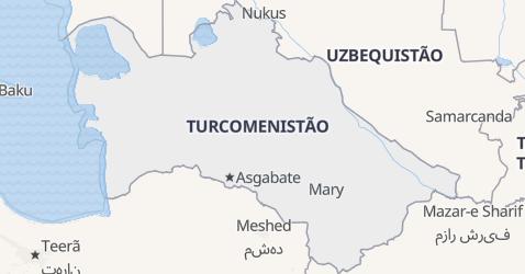 Mapa de Turcomenistão