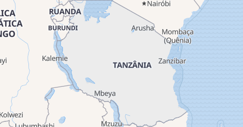 Mapa de Tanzânia