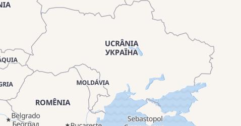 Mapa de Ucrânia