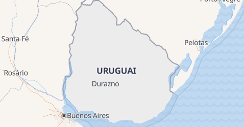 Mapa de Uruguai
