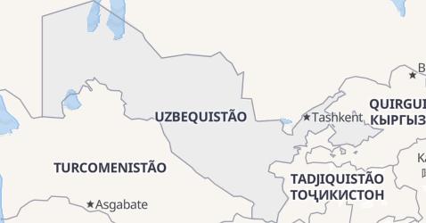Mapa de Uzbequistão