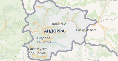 Андорра - карта