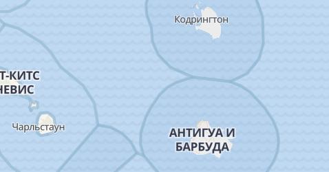 Антигуа и Барбуда - карта