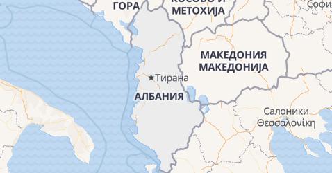Албания - карта