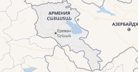 Армения - карта