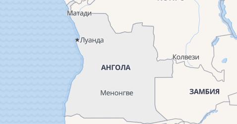 Ангола - карта