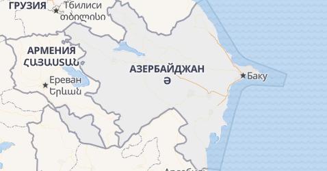 Азербайджан - карта