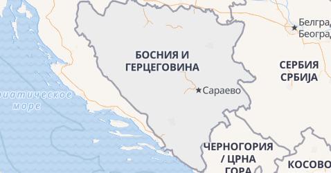 Босния и Герцеговина - карта