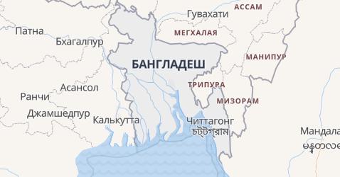 Бангладеш - карта