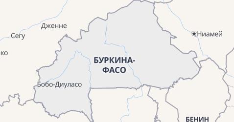 Буркина-Фасо - карта