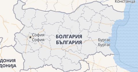 Болгария - карта