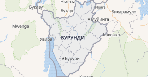 Бурунди - карта