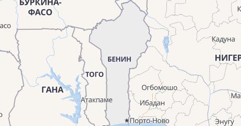 Бенин - карта