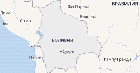 Боливия - карта