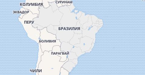 Бразилия - карта
