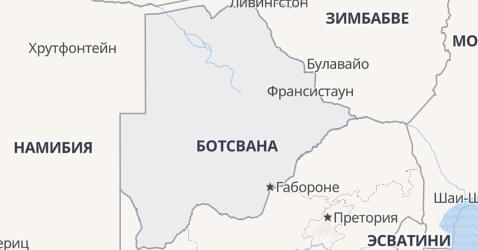 Ботсвана - карта