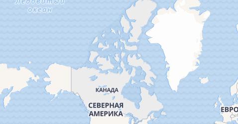 Канада - карта
