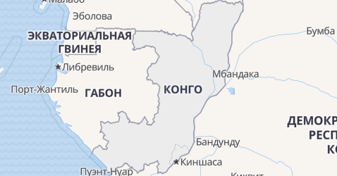 Конго - карта