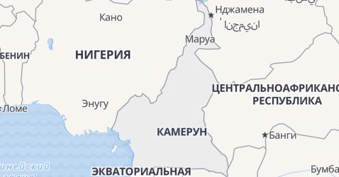 Камерун - карта