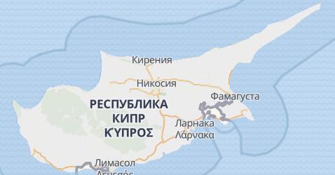 Кипр - карта