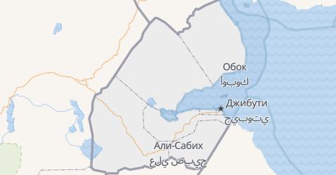 Джибутти - карта