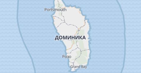 Доминика - карта