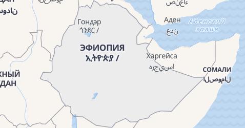 Ефиопия - карта