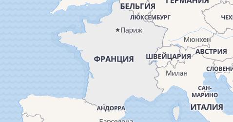 Франция - карта