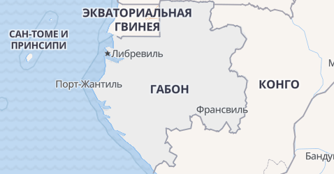Габон - карта