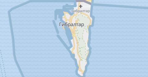 Гибралтар - Великобритания - карта