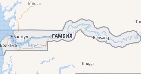 Гамбия - карта