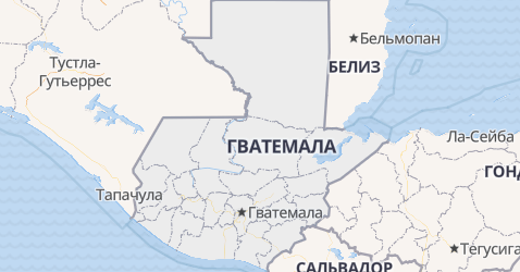 Гватемала - карта