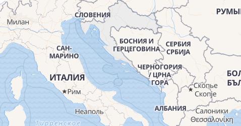 Хорватия - карта