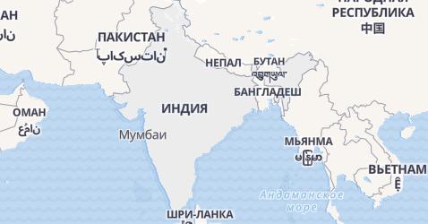 Индия - карта