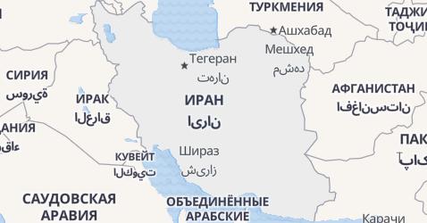 Иран - карта
