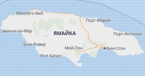 Ямайка - карта
