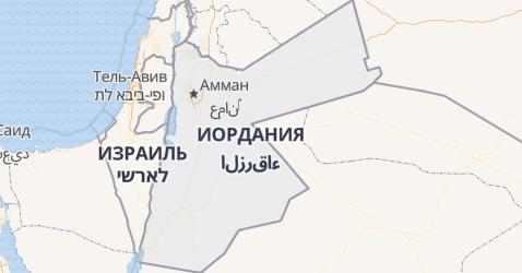 Иордания - карта