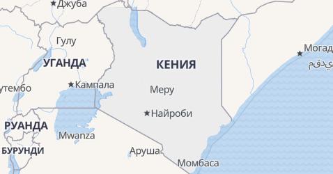 Кения - карта