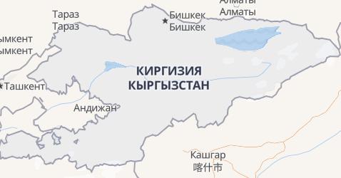 Кыргызстан - карта