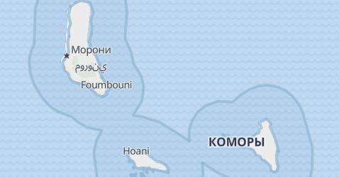 Коморские острова - карта