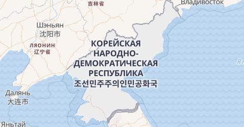 Северная Корея - карта