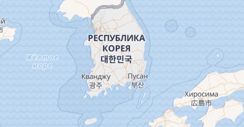 Южная Корея - карта