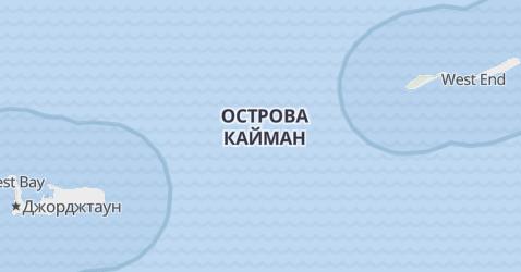 Кайманские острова - карта