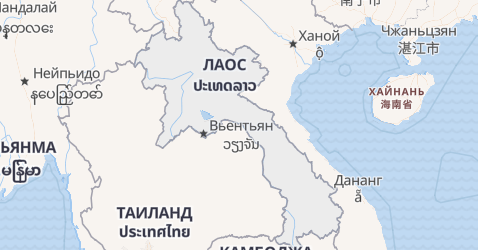 Лаос - карта
