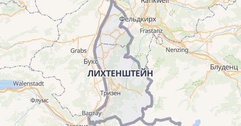 Лихтенштейн - карта