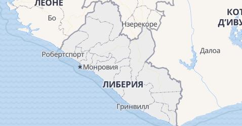 Либерия - карта