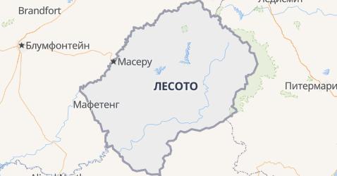 Лесото - карта