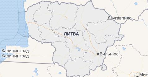 Литва - карта